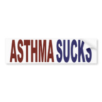 Asthma Sucks Bumper Sticker