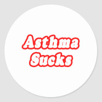 Asthma Sucks Classic Round Sticker