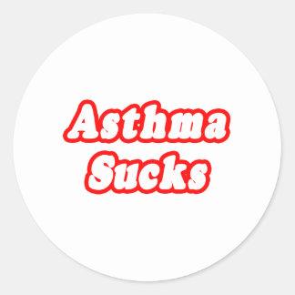 Asthma Sucks Classic Round Sticker