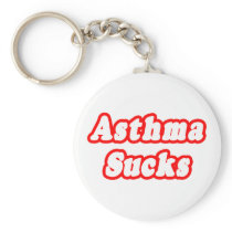 Asthma Sucks Keychain