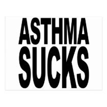 Asthma Sucks Postcard
