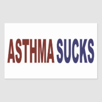 Asthma Sucks Rectangular Sticker