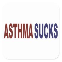 Asthma Sucks Square Sticker
