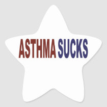 Asthma Sucks Star Sticker