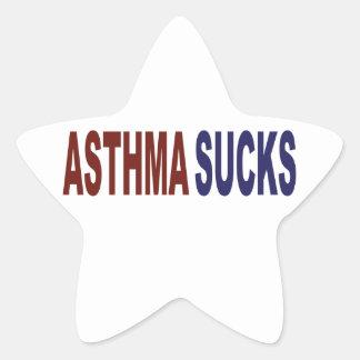 Asthma Sucks Star Sticker