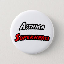 Asthma Superhero Pinback Button