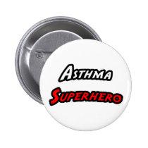 Asthma Superhero Pinback Button