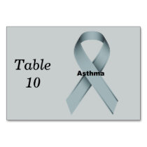 Asthma Table Number