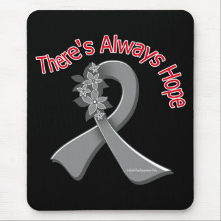 Asthma There's Always Hope Floral Mouse Pad