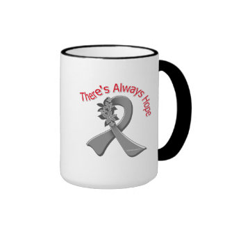 Asthma There's Always Hope Floral Coffee Mugs