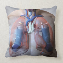 Asthma Throw Pillow