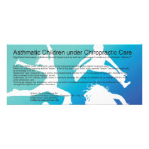 Asthmatic Children under Chiropractic Care Rack Card