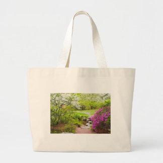 Asticou Azelea Garden In Spring, Northeast Harbor Large Tote Bag