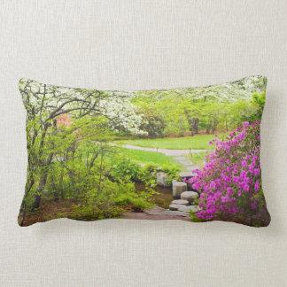 Asticou Azelea Garden In Spring, Northeast Harbor Pillow