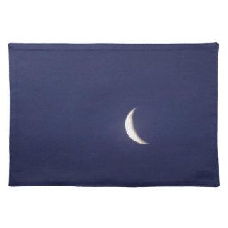 Astilla de la luna azul manteles individuales