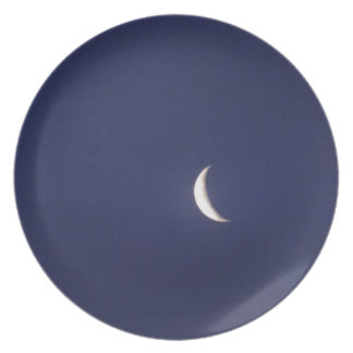 Astilla de la luna azul platos