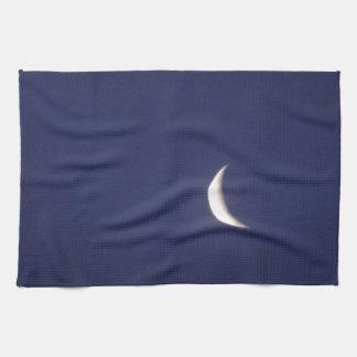 Astilla de la luna azul toalla de cocina
