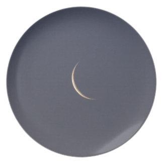 Astilla de la luna plato de cena