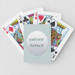 Astilla/mejor tía azul cartas de juego