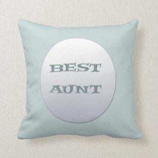 Astilla/mejor tía azul Cushion Cojín Decorativo