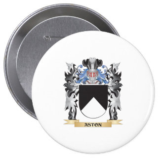 Aston Coat of Arms - Family Crest 4 Inch Round Button