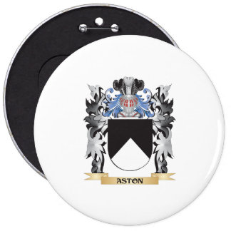 Aston Coat of Arms - Family Crest 6 Inch Round Button