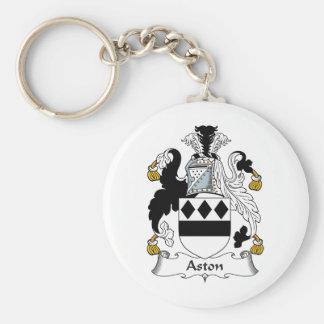 Aston Family Crest Basic Round Button Keychain