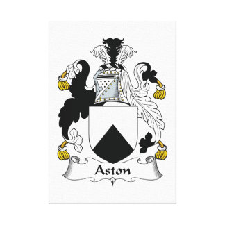 Aston Family Crest Stretched Canvas Print