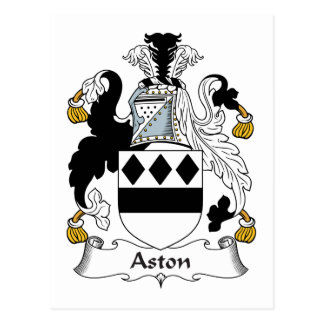 Aston Family Crest Postcard