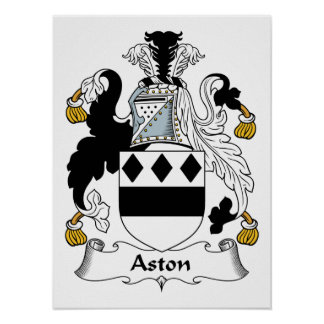 Aston Family Crest Posters
