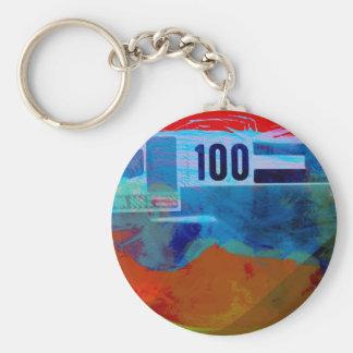 Aston Martin Basic Round Button Keychain