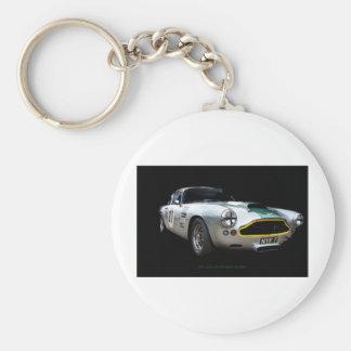 Aston Martin DB4 1961 Art Print Basic Round Button Keychain