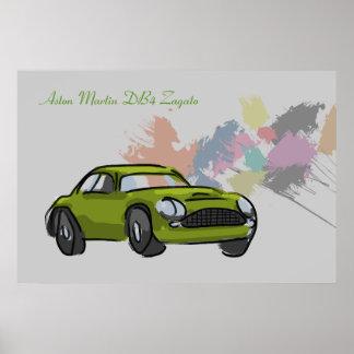 Aston Martin DB4 Zagato Print