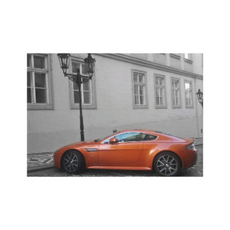 Aston Martin In Town Gallery Wrapped Canvas