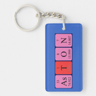 Aston periodic table name keyring Single-Sided rectangular acrylic keychain