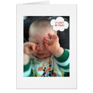 ASTONISHED BABY - 40th BIRTHDAY???? Card