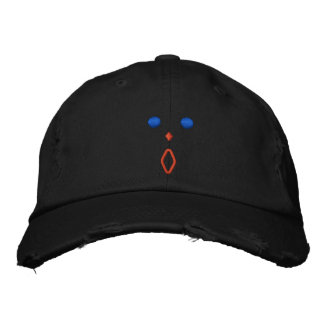 Astonished Embroidered Distressed  Chino Cap