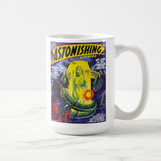 ASTONISHING STORIES Vintage Pulp Magazine Cover Coffee Mug