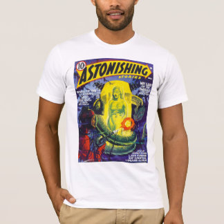 ASTONISHING STORIES Vintage Pulp Magazine Cover T-Shirt