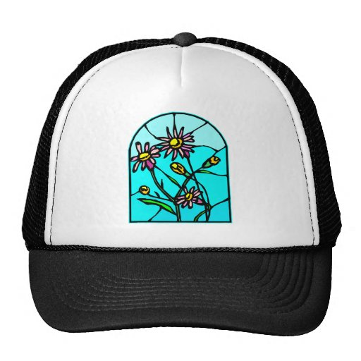 Astor Floral Stained Glass #0033 Trucker Hat