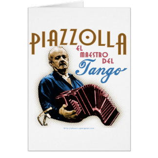 Astor Piazzolla Greeting Card