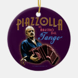 Astor Piazzolla Christmas Tree Ornament
