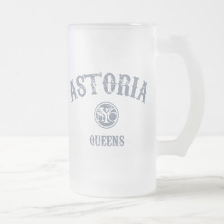 Astoria 16 Oz Frosted Glass Beer Mug