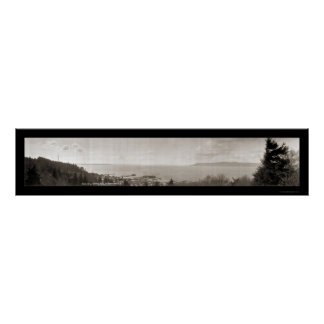 Astoria OR Columbia River Photo 1913 Poster