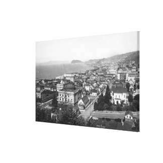 Astoria, Oregon Business Section and Waterfront Canvas Print