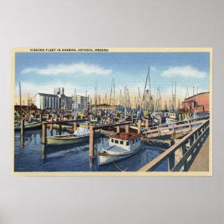 Astoria, Oregon - flota pesquera en puerto Posters