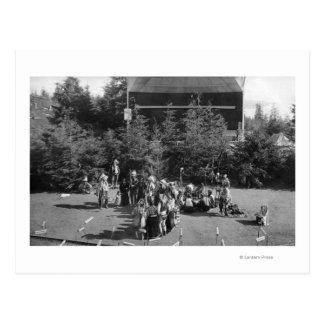 Astoria, Oregon Indian War Dance at Centennial Postcard
