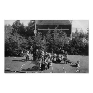 Astoria, Oregon Indian War Dance at Centennial Poster