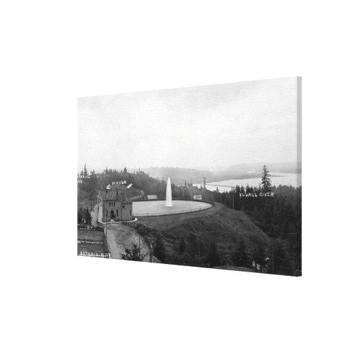 Astoria, Oregon Resevoir y fuerte Astoria Impresiones De Lienzo