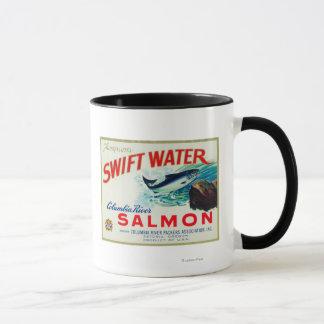Astoria, Oregon - Thompson's Swift Water Salmon Mug